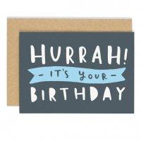 OLD ENGLISH CO.   HURRAH IT'S YOUR BIRTHDAY CARD   バースデー   グリーティングカードの商品画像