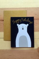 GINGIBER | HAPPY HOLIDAYS POLAR BEAR CARD | グリーティングカード