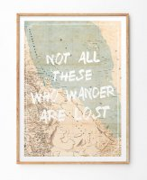 LES TEMPS MODERNES | NOT ALL THOSE WHO WANDER ARE LOST MAP | A3 アートプリント/ポスター