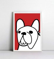 NICE MICE FOR YOU   FRENCH BULLDOG (red #2)   A4 アートプリント/ポスターの商品画像