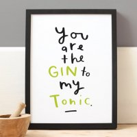 OLD ENGLISH CO. | YOU ARE THE GIN TO MY TONIC | A4 アートプリント/ポスター