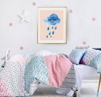 LOVELY POSTERS | RAIN CLOUD PRINT | A3 アートプリント/ポスター