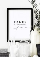 LOVELY POSTERS | PARIS JE T'AIME MON AMOUR (white) | A3 アートプリント/ポスター