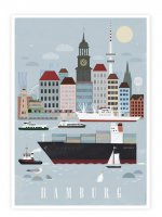 HUMAN EMPIRE | HAMBURG CITY POSTER | ポスター (50x70cm)