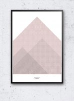 IHANNA HOME | PINK MOUNTAINS POSTER | アートプリント/ポスター (50x70cm)