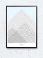 IHANNA HOME | MOUNTAINS & BLUE SKY POSTER | アートプリント/ポスター (50x70cm)
