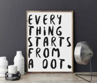 LOVELY POSTERS | EVERYTHING STARTS FROM A DOT | A3 アートプリント/ポスター