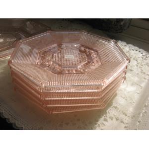 東洋ガラス 美しいベリー皿Set  Minerva Rose