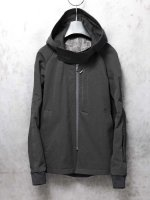 【DEVOA】Hooded jacket Cotton/Linen RIP-stop /BLACK