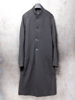【DEVOA】Coat cotton double jersey /CHARCOAL