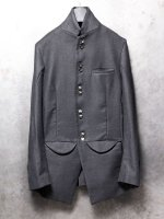 【incarnation】COTTON BOTTON FRONT JACKET LINED /BLACK