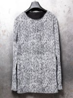 【incarnation】COTTON CUT&SAWN LONG SLEEVE /BLACK×WHITE