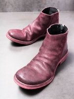 【incarnation】HORSE BUTT BACK ZIP SHORT LEATHER SOLES /BORDEAUX
