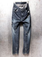 【JULIUS】9oz Stretch Denim Skinny Pants /INDIGO