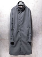 【incarnation】PO100% HIGHNECK BIAS FRY FRONT COAT LINED /GRAY<img class='new_mark_img2' src='//img.shop-pro.jp/img/new/icons1.gif' style='border:none;display:inline;margin:0px;padding:0px;width:auto;' />