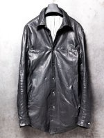 【incarnation】SHEEP LEATHER SHIRT BD #2 LINED /BLACK