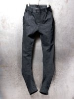 【DEVOA】Denim heavy cotton selvedge slim /BLACK