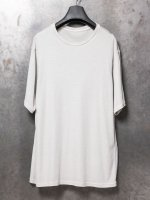【DEVOA】Short sleeve egyptian cotton jersey (GIZA) (Loose fit) /WHITE GRAY