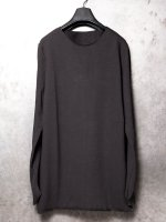 【incarnation】COTTON92% EL8% CUTSPIRAL ARM LONG SLEEVE /BLACK
