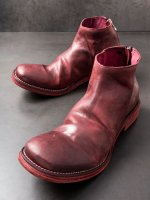 【incarnation】HORSE LEATHER BACK ZIP SHORT LEATHER SOLES /BORDEAUX
