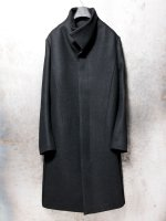 【individualsentiments】KNIT MELTON HI-NECK COAT /BLACK<img class='new_mark_img2' src='//img.shop-pro.jp/img/new/icons1.gif' style='border:none;display:inline;margin:0px;padding:0px;width:auto;' />