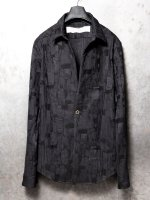 【individual sentiments】COTTON BORO JACQUARD 1B SHIRTS JACKET /BLACK<img class='new_mark_img2' src='//img.shop-pro.jp/img/new/icons1.gif' style='border:none;display:inline;margin:0px;padding:0px;width:auto;' />