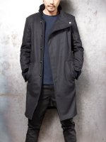 【incarnation】WOOL100% HIGH-NECK BIAS FRY FRONT COAT #3 LINED /BLACK<img class='new_mark_img2' src='//img.shop-pro.jp/img/new/icons1.gif' style='border:none;display:inline;margin:0px;padding:0px;width:auto;' />