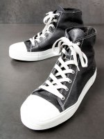 【incarnation】HORSE SHINY LEATHER HI CUT SNEAKER LINED /BLACK