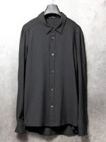 【DEVOA】Shirt virgin wool 4way stretch (Loose fit) /BLACK<img class='new_mark_img2' src='//img.shop-pro.jp/img/new/icons53.gif' style='border:none;display:inline;margin:0px;padding:0px;width:auto;' />