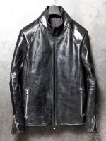 【incarnation】HORSE BUTT + HORSE SHINY LEATHER H/N MOTO LINED /BLACK
