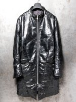 【incarnation】HORSE BUTT LEATHER ZIP FRONT W/POKET DAWN COAT LINED /BLACK