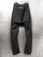 【incarnation】LINEN70% COTTON27% ELASTERN3% PANTS LONG DARTS SARROUEL #3 /BLACK