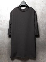 【incarnation】COTTON92% EL8% CUT SPIRAL ARM SHORT SLEEVE /BLACK