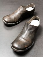 【incarnation】HORSE LEATHER SLIP ON LINED LEATHER SOLES /D.GRAY
