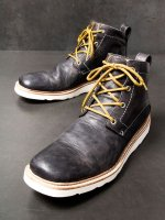 【incarnation】HORSE LEATHER ANCLE 4 HOLE #3 LINED RUBBER SOLES /BLACK