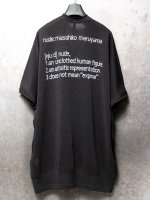 【nude:mm】アイレット天竺nudeバックプリントビッグTEE /BLACK<img class='new_mark_img2' src='//img.shop-pro.jp/img/new/icons1.gif' style='border:none;display:inline;margin:0px;padding:0px;width:auto;' />