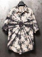 【ISAMU KATAYAMA BACKLASH】USED絞り染めアロハシャツ /BEIGE