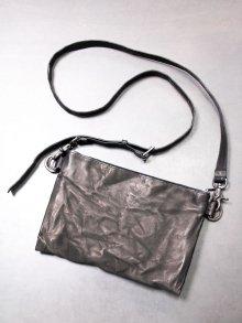 ★受注生産【iolom】別注Double-folded sacoche bag /BLACK