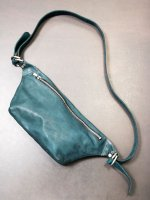 【incarnation10周年 × VEKTOR】CARF LEATHER BAG FANNY PACK UNLINED /GREEN
