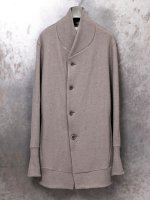 【individualsentiments】WOOL SOFT JERSEY CARDIGAN  /BROWN GRAY