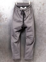 【individualsentiments】COTTON BACKLOOP JERSEY EASY PANTS  /GRAY