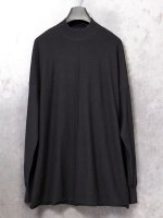 ▼ 21SS 【DEVOA】Knit mockneck long sleeve high twist cotton /BLACK