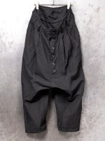 【nude:mm】SUPIMA COTTON LINEN CLOTH 2 TACKS CROPPED SAROUEL PANTS /BLACK<img class='new_mark_img2' src='https://img.shop-pro.jp/img/new/icons1.gif' style='border:none;display:inline;margin:0px;padding:0px;width:auto;' />