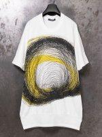 【nude:mm DISTORTION 3】COTTON JERSEY BIG SLEEVELESS PRINT PULLOVER [MOMOKO NAKAGAWA] /OFF WHITE