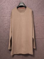 【DEVOA】Long sleeve silk jersey /CHESNUT