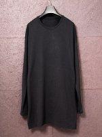 【DEVOA】Long sleeve silk jersey /BLACK