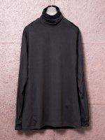 【DEVOA】Highneck egyptian cotton inderlock jersey (SUVIN) /BLACK