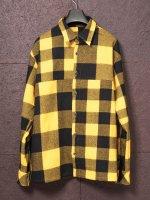 【ISAMU KATAYAMA BACKLASH】ウールチェックストレッチシャツ /YELLOW