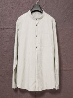 【individualsentiments】PINSTRIPE COTTON NO COLLAR SHIRTS /ECRU<img class='new_mark_img2' src='https://img.shop-pro.jp/img/new/icons1.gif' style='border:none;display:inline;margin:0px;padding:0px;width:auto;' />