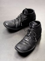 【incarnation】HORSE LEATHER 3 HOLE CHACKER LINED LEATHER SOLES PIECE DYED /BLACK<img class='new_mark_img2' src='https://img.shop-pro.jp/img/new/icons1.gif' style='border:none;display:inline;margin:0px;padding:0px;width:auto;' />